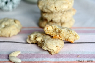 cookies vegan chocolat blanc amandes