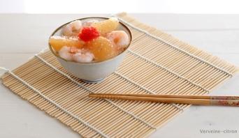 Chirashi crevettes pamplemousse