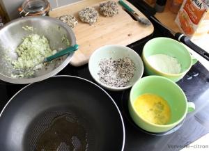 Croquettes courgette feta