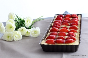 Tarte fraise rhubarbe