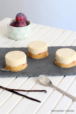 Cheesecake vanille prune
