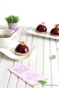 Dômes chocolat figue noisette